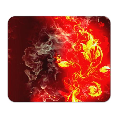 Коврик прямоугольный Цветок в огне от Всемайки