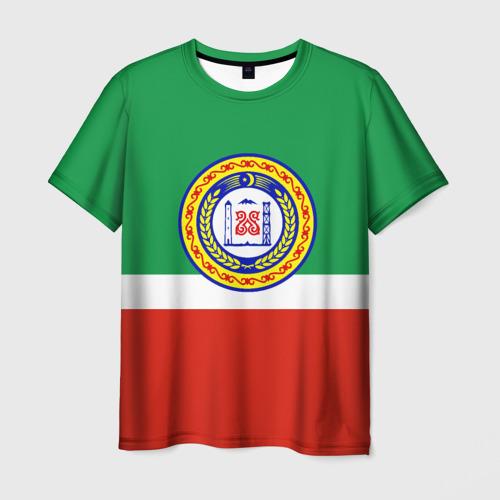 Мужская футболка 3D Чеченская республика