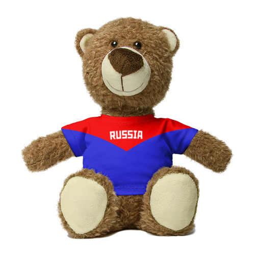 Миша в футболке 3D Russia