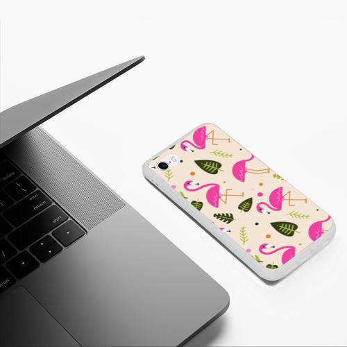 Чехол для iPhone 6/6S матовый Фламинго Фото 01