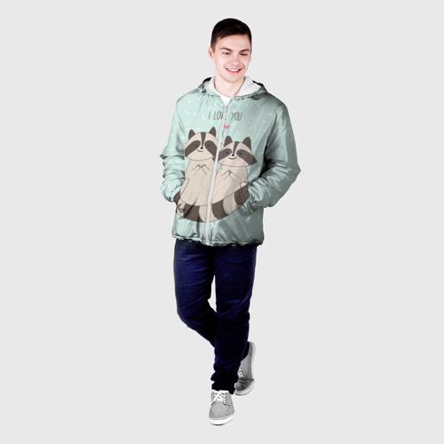 Мужская куртка 3D  Фото 03, Влюбленные еноты