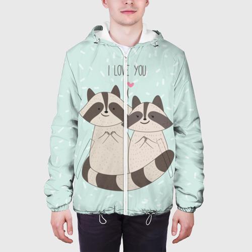 Мужская куртка 3D  Фото 04, Влюбленные еноты