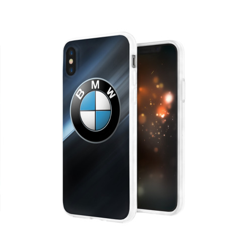 Чехол для Apple iPhone X силиконовый глянцевый  Фото 03, BMW
