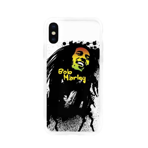 Чехол для Apple iPhone X силиконовый глянцевый  Фото 01, Bob Marley
