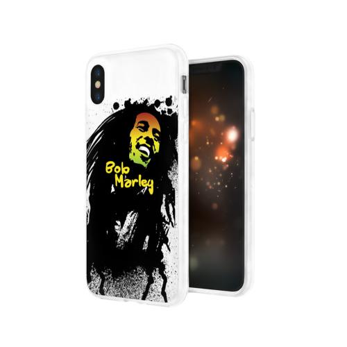 Чехол для Apple iPhone X силиконовый глянцевый  Фото 03, Bob Marley
