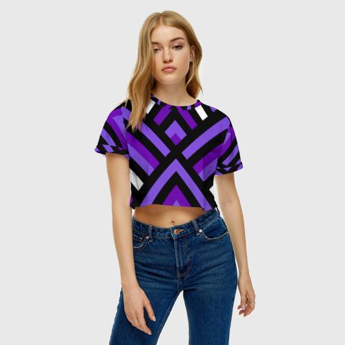 Женская футболка 3D укороченная  Фото 04, Geomerika