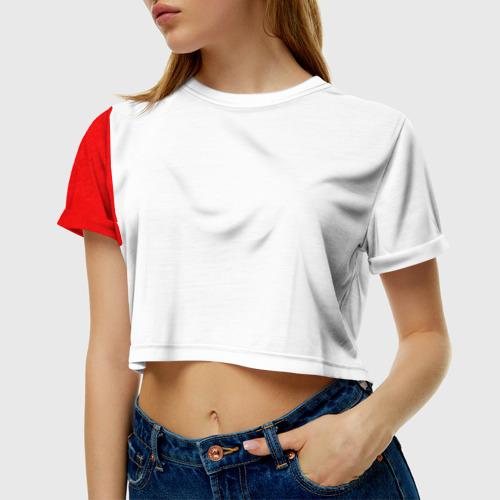 Женская футболка 3D укороченная  Фото 01, ФК Милан