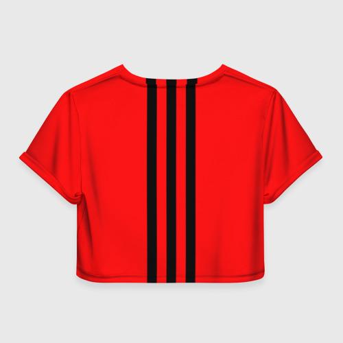 Женская футболка 3D укороченная  Фото 02, Милан ФК