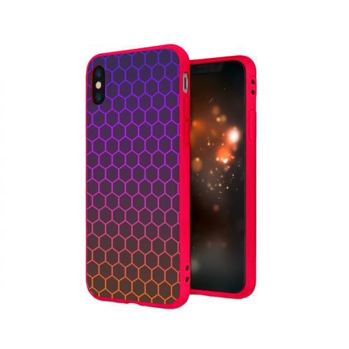 Чехол для Apple iPhone X силиконовый матовый Electric hive cs go Фото 01