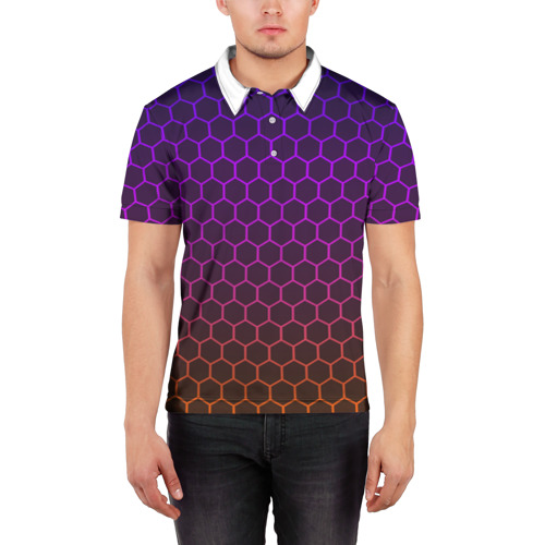 Мужская рубашка поло 3D Electric hive cs go Фото 01