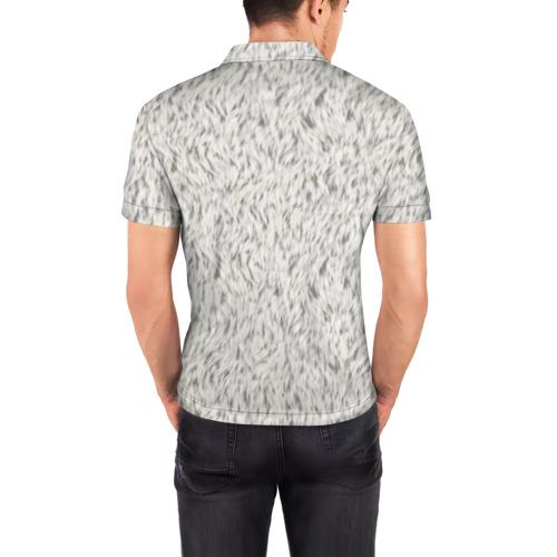Мужская рубашка поло 3D  Фото 04, Белый мех