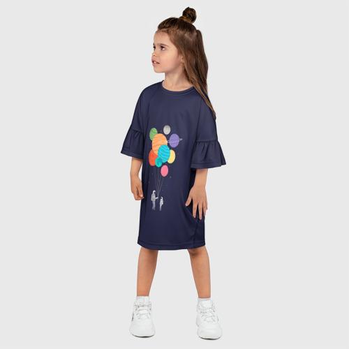 Детское платье 3D  Фото 03, Космонавт 3
