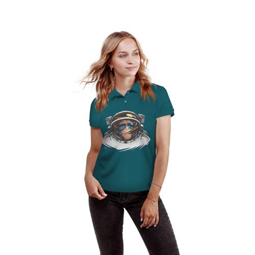 Женская рубашка поло 3D  Фото 03, Космонавт 6