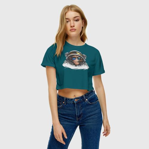 Женская футболка 3D укороченная  Фото 04, Космонавт 6