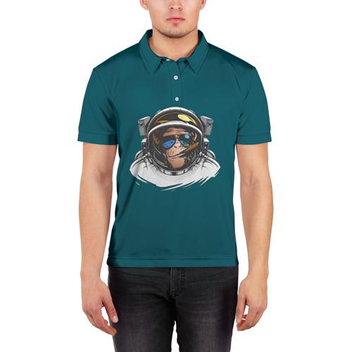 Мужская рубашка поло 3D  Фото 03, Космонавт 6