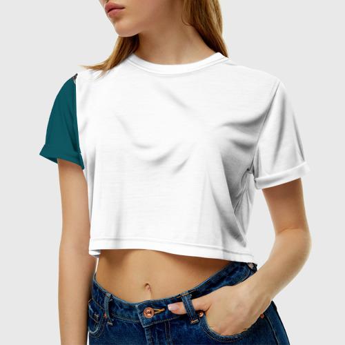 Женская футболка 3D укороченная  Фото 01, Космонавт 6