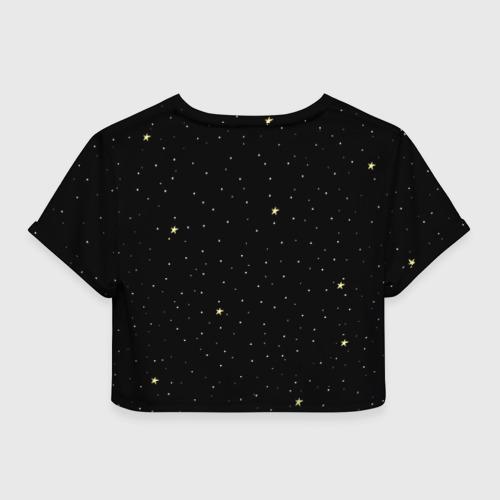 Женская футболка 3D укороченная  Фото 02, Космонавт 7