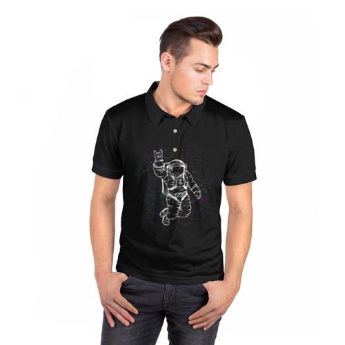 Мужская рубашка поло 3D  Фото 05, Космонавт 9