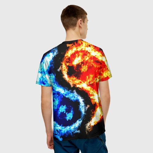 Мужская футболка 3D  Фото 02, Огни