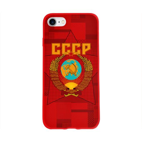 Чехол для Apple iPhone 8 силиконовый глянцевый СССР Фото 01