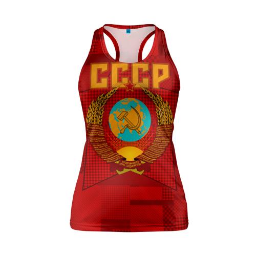 Женская майка 3D спортивная СССР