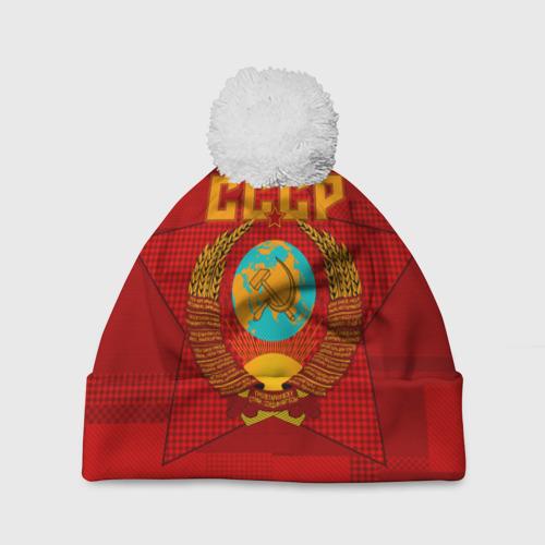 Шапка 3D c помпоном СССР