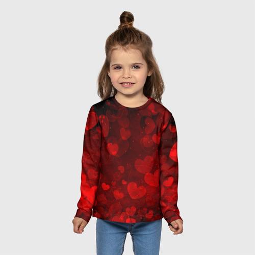 Детский лонгслив 3D Сердечко Фото 01
