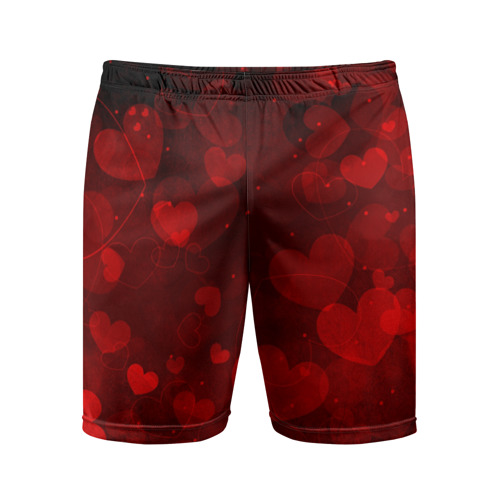 Мужские шорты 3D спортивные Сердечко