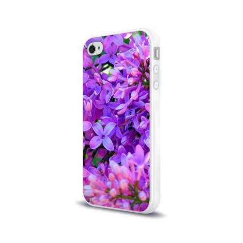 Чехол для Apple iPhone 4/4S силиконовый глянцевый Сирень Фото 01