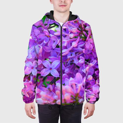 Мужская куртка 3D Сирень Фото 01