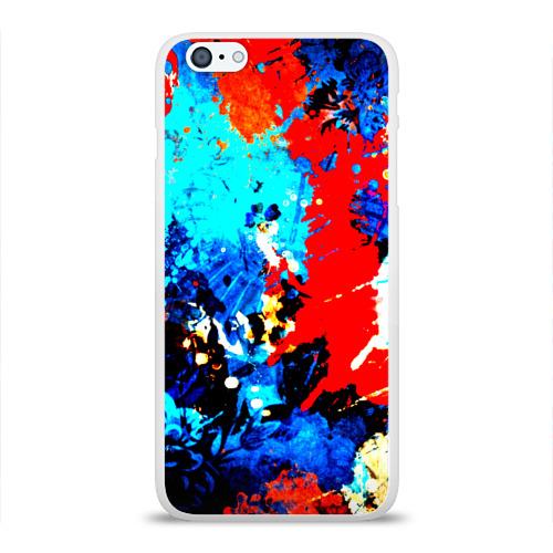Чехол для Apple iPhone 6Plus/6SPlus силиконовый глянцевый  Фото 01, Абстракция красок