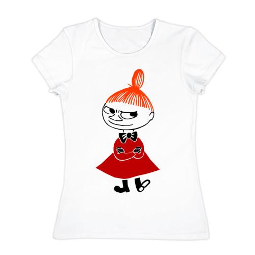 Женская футболка хлопок 'Малышка Мю'