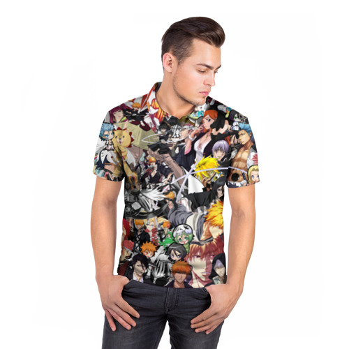 Мужская рубашка поло 3D  Фото 05, Bleach