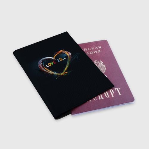 Обложка для паспорта матовая кожа  Фото 03, Love is...
