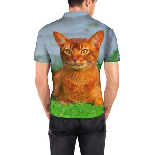 Мужская рубашка поло 3D  Фото 04, Кошка