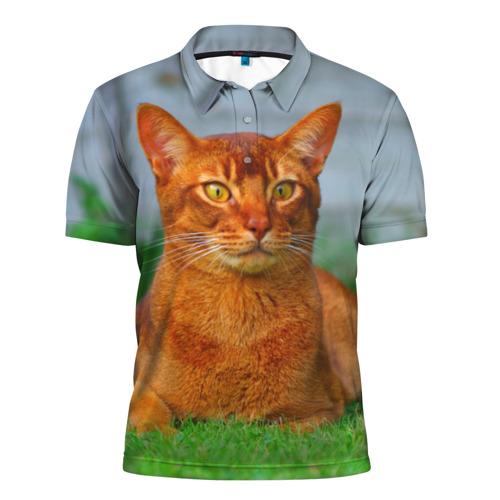 Мужская рубашка поло 3D  Фото 01, Кошка
