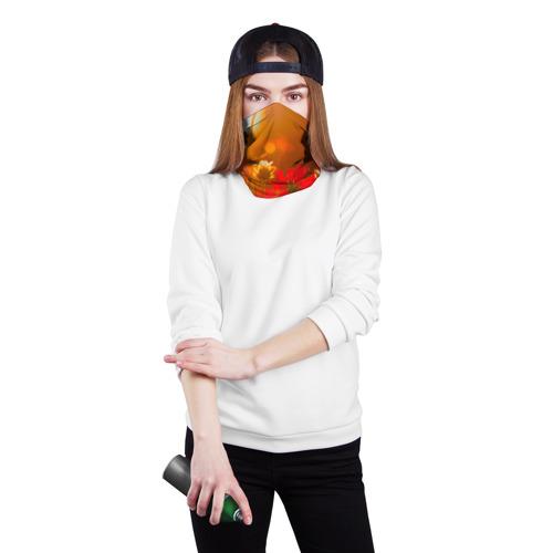 Бандана-труба 3D  Фото 02, Цветы