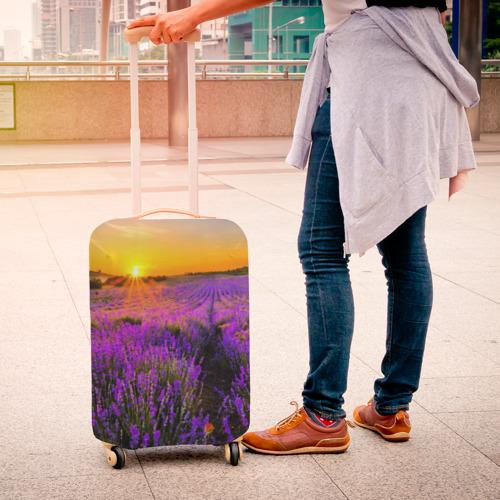 Чехол для чемодана 3D Лавандовое поле Фото 01