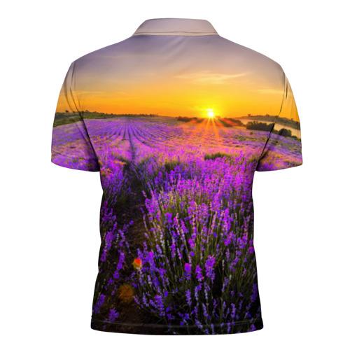 Мужская рубашка поло 3D  Фото 02, Лавандовое поле