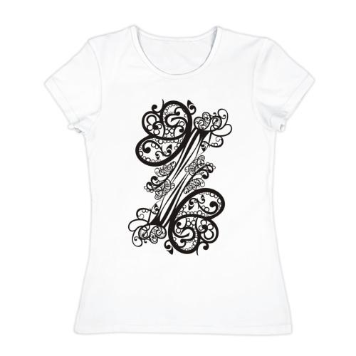 Женская футболка хлопок Бабочка