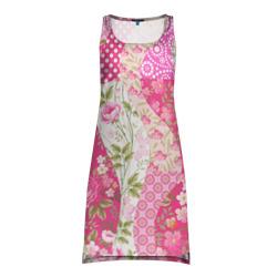 Платье-майка 3DУзор на ткани