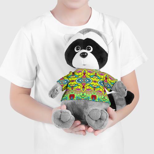 Енотик в футболке 3D Узоры 3 Фото 01