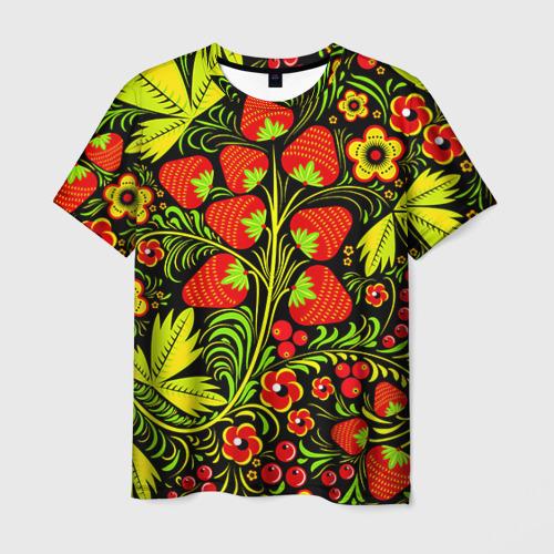 Мужская футболка 3D Роспись Хохлома 1