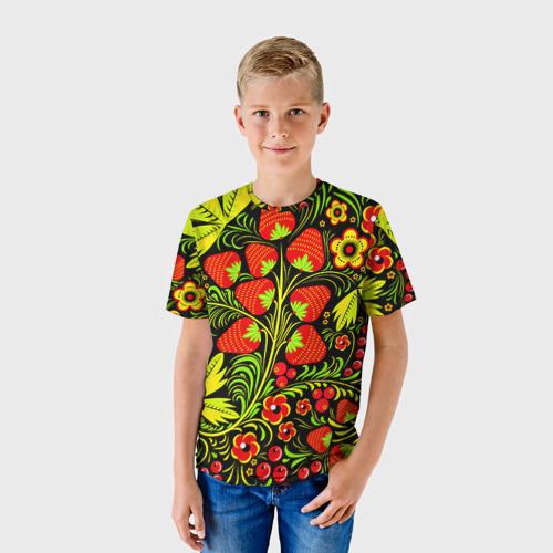 Детская футболка 3D  Фото 01, Роспись Хохлома 1