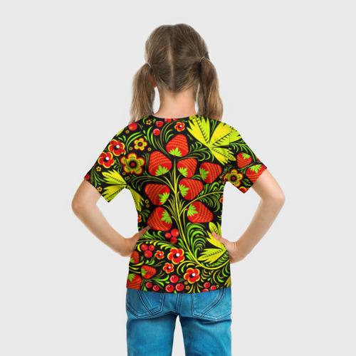 Детская футболка 3D  Фото 04, Роспись Хохлома 1