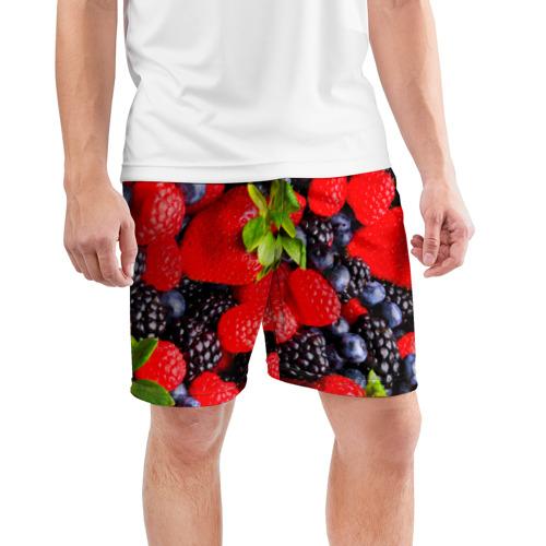 Мужские шорты 3D спортивные  Фото 03, Ягоды