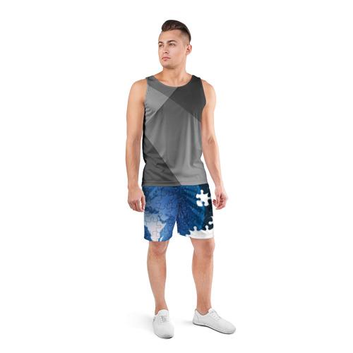 Мужские шорты 3D спортивные  Фото 04, Планета пазлы