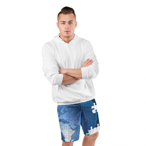 Мужские шорты 3D спортивные  Фото 05, Планета пазлы