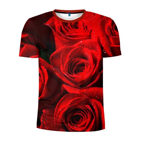 Мужская футболка 3D спортивная Розы