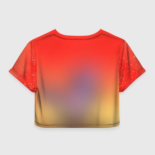 Женская футболка 3D укороченная  Фото 02, Red Sky
